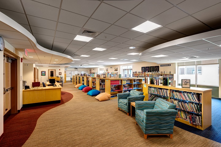 Library New Fairfield Connecticut Middle School