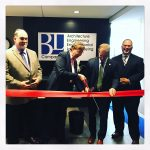 Carolyn Stanworth (BL's President & CEO) cuts the ribbon with the assistance of Mayor of Hartford, Luke Bronin